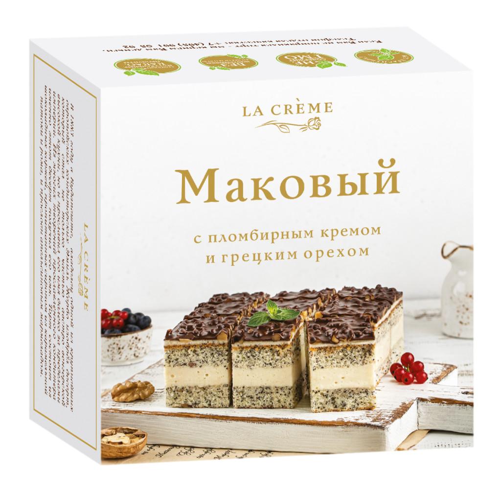 Торт «Маковый с пломбирным кремом»